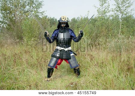 Samurai With Two Swords