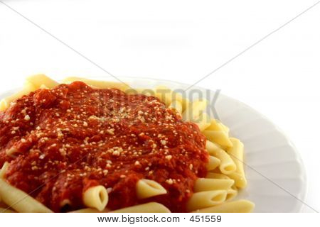 Cooked Pasta With Sauce