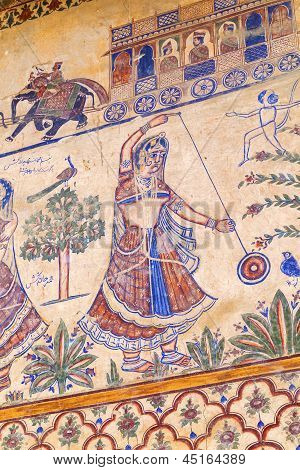 Frescoed Havelis In Bikaner