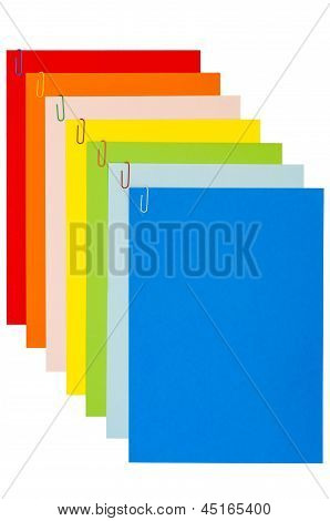 Rainbow Stationery With Paper-clips 04