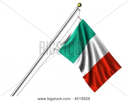 Isolated Italian Flag