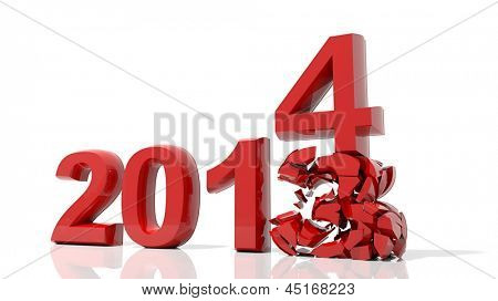 The new year 2014 is coming
