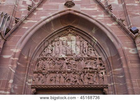Tympanum Of Church Of Saint-pierre-le-vieux In Strasbourg