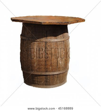 Recycled beer barrel now a table