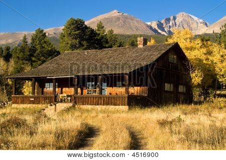 Country Cabin In Autumn