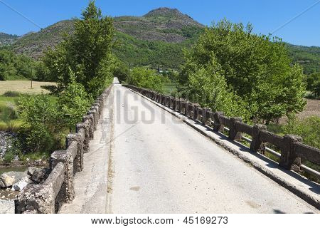 Old road bridge at Europe in Greece