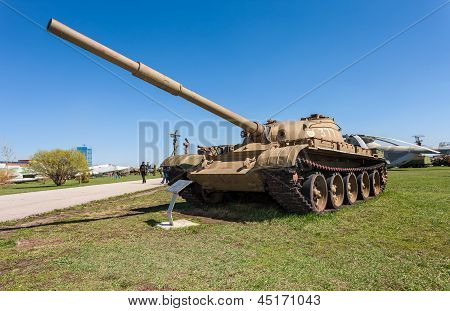 Togliatti, Russia - May 2: Old Soviet Tank T- 62 At The Exhibition In The Technical Museum On May 2,