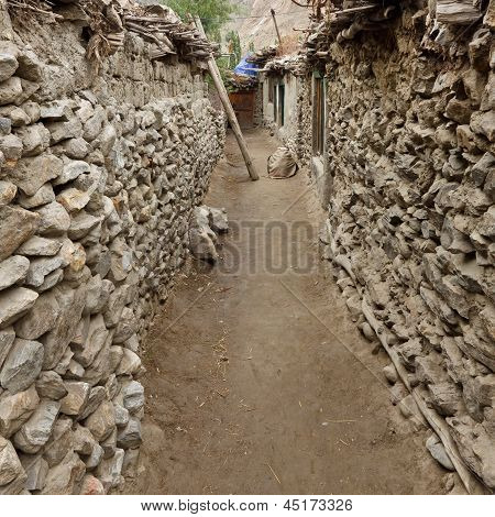 Poor Village In The Karakorum Mountains, Pakistan