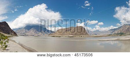 Indus River Panorama, Skardu, Pakistan