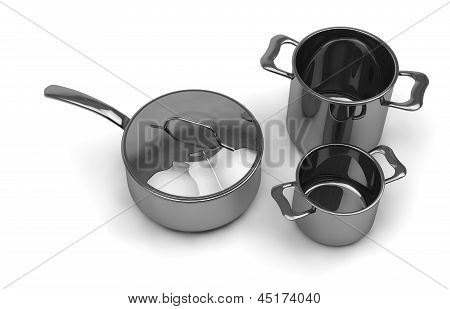 Steel Pots And Pans