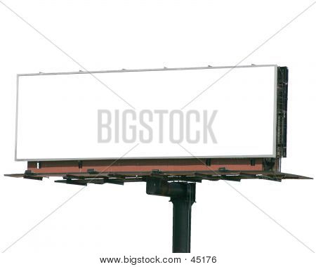 Isolated Blank Billboard