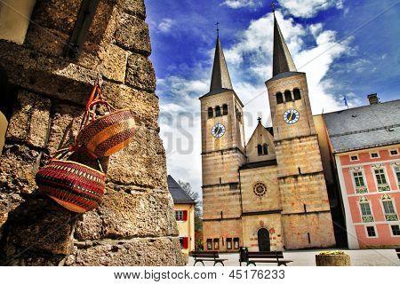 charming Bavarian towns in Alps -  Berchtesgaden