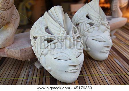 Wooden masks crafts
