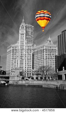 die Skyline von chicago
