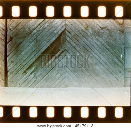 Vintage Door And Wall On Film Strip