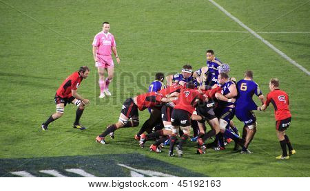 Super Rugby Game Players Scrum