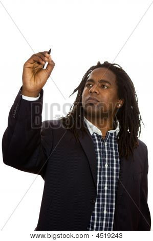 African Businessman Writing
