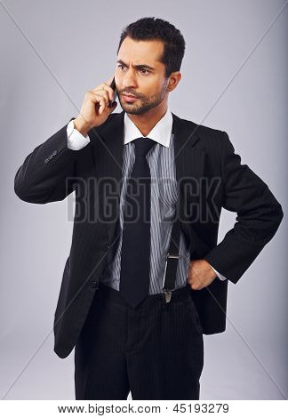 Annoyed Businessman On The Phone