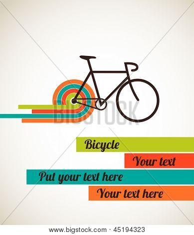 Bicycle, vintage poster