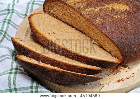 Wholemeal boule loaf.