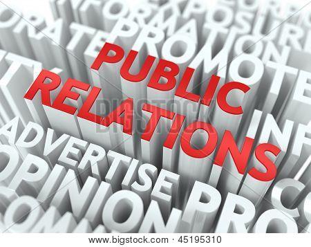 Concepto de relaciones públicas (PR).