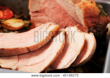 Detail of finest sliced meat