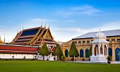 The Grand Palace & Wat Phra Kaew (The Emerald Buddha Temple), Bangkok, Thailand. landmark of Thailan