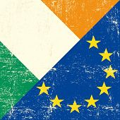 picture of irish flag  - Irish and european grunge Flag - JPG