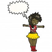 pic of groupies  - cartoon singing rock girl - JPG