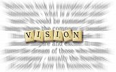 foto of scrabble  - Vision written in scrabble good for company goals and objective - JPG