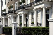 stock photo of kensington  - Regency Georgian terraced town houses in London - JPG
