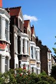 stock photo of greater  - Victorian terraced town houses in London - JPG