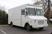 picture of delivery-truck  - white delivery truck - JPG