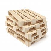 picture of wooden pallet  - Wooden pallets  isolated on a white background - JPG