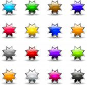 Colored Shiny Stars