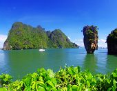 picture of james bond island  - james bond island in thailand - JPG
