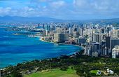 pic of waikiki  - An up close shot of the city of Honolulu - JPG
