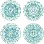 Mandala. Round Ornament Pattern Set