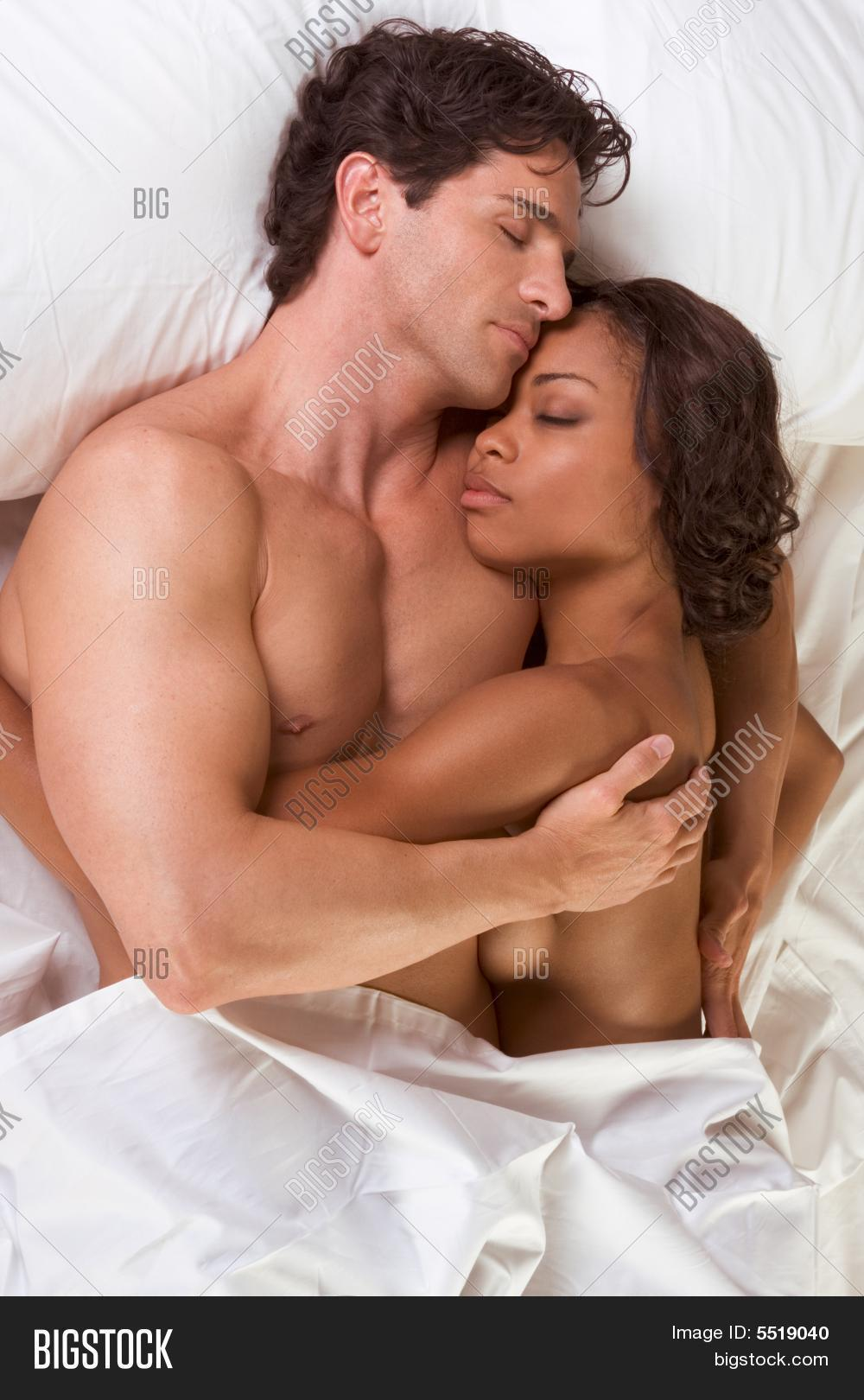 couple sleeping together naked