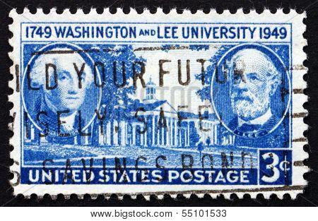 Postage Stamp Usa 1949 George Washington And Robert E. Lee