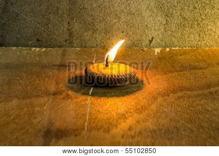 Still Life - Candle In Loi Krathong Festival