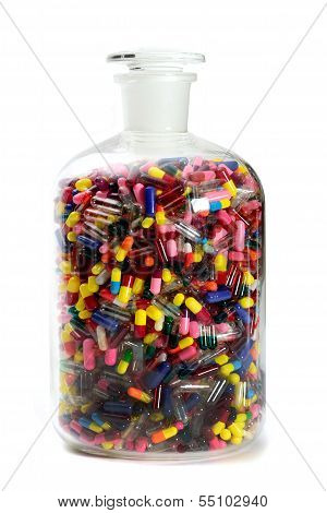 Capsules in Glass Jar