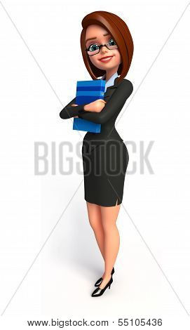 Young Business Woman with  diary