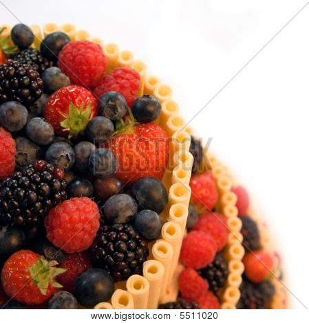 Berry Cake With White Chocolate Over White
