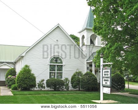 Country Church And Steeple