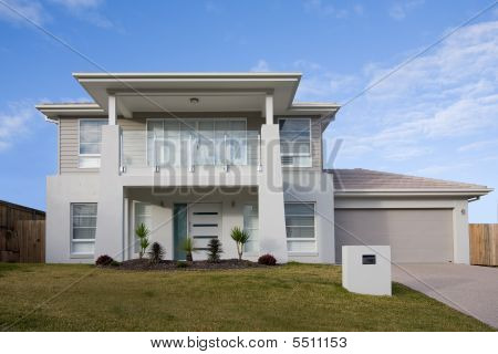 Modern Two Storey House With A Balcony