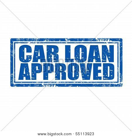 Car Loan Approved-stamp