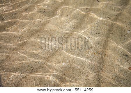 Sea Reflection With Sand