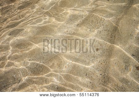 Water Reflection With Sand