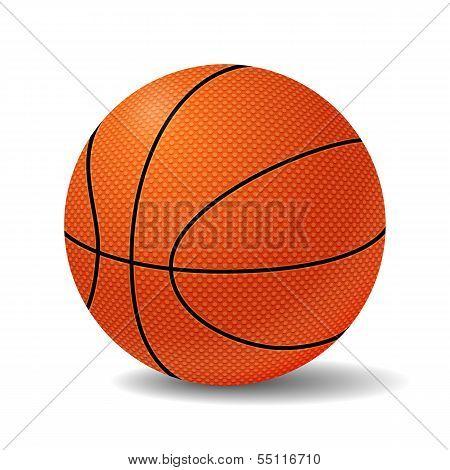 Realistic Basketball Ball. Vector Illustration